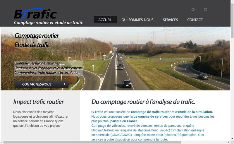 Capture d'écran du site de B Trafic