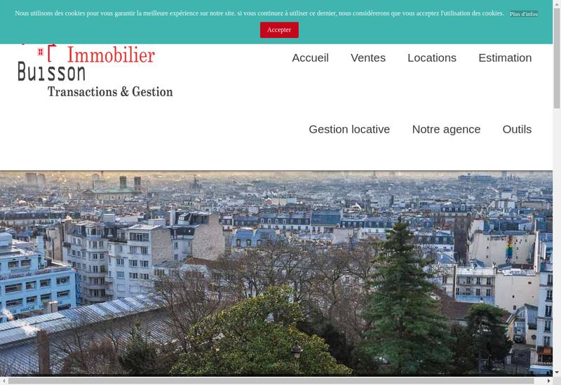 Capture d'écran du site de Buisson Immobilier