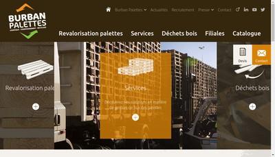 Site internet de Burban Palettes Recyclage