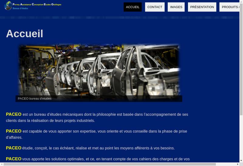 Capture d'écran du site de Be Paceo