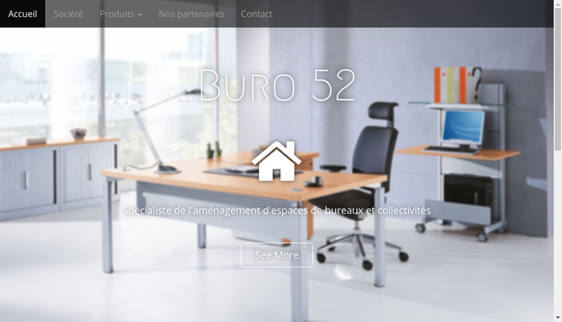 Capture d'écran du site de Buro 52