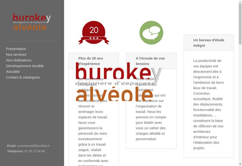 Capture d'écran du site de Burokey Alveole