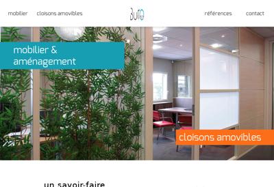 Capture d'écran du site de Burospace
