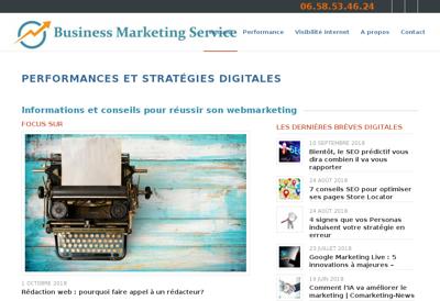 Capture d'écran du site de Business Marketing Service