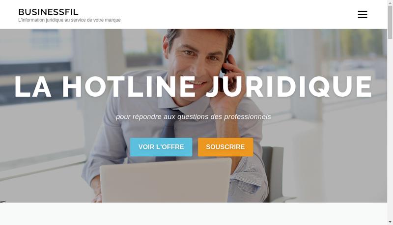 Capture d'écran du site de Business Fil