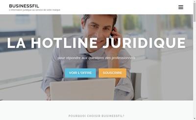 Site internet de Business Fil