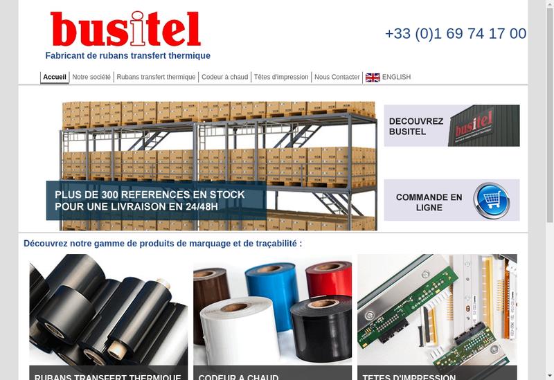 Capture d'écran du site de Busitel