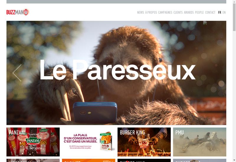 Capture d'écran du site de Buzzman