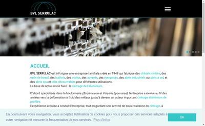 Site internet de BVL Serrulac