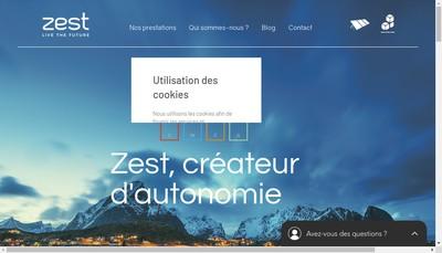 Site internet de Zest
