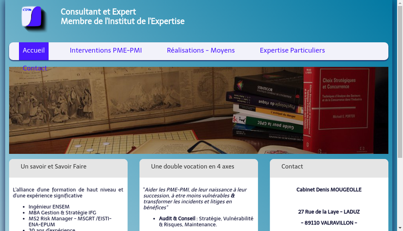 Capture d'écran du site de CDM