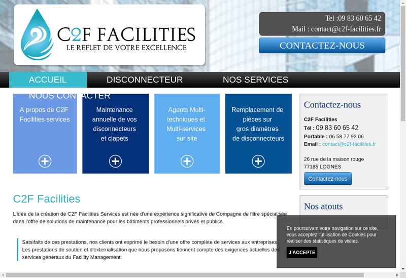 Capture d'écran du site de C2F Facilities Services