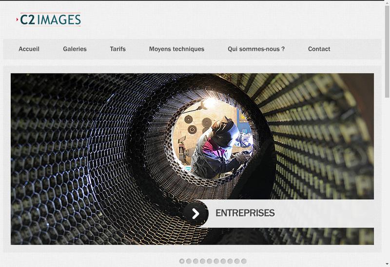 Capture d'écran du site de C2 Images