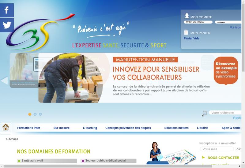 Capture d'écran du site de C3S Formation, C3S Edition