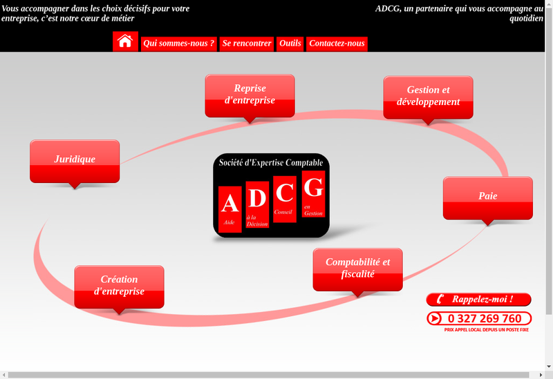 Capture d'écran du site de Adcg Valenciennes