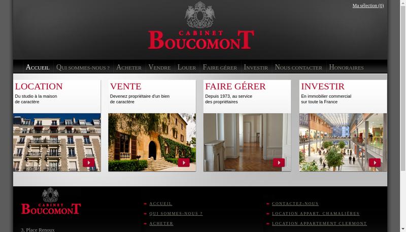 Capture d'écran du site de Cabinet Boucomont
