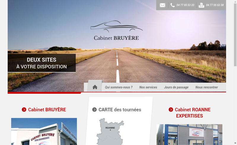 Capture d'écran du site de Cabinet Bruyere SA