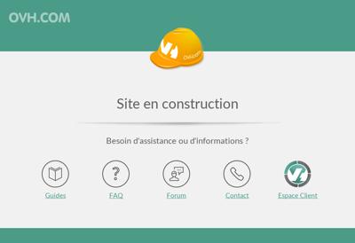 Capture d'écran du site de Cabinet Denis