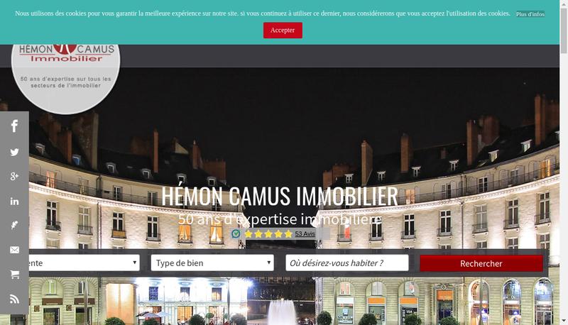 Capture d'écran du site de Cabinet Hemon Hemon Camus Immobilier Cabinet Mallet