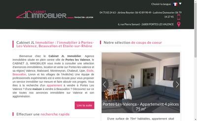Site internet de Jl Immobilier
