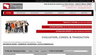 Site internet de Cabinet d'Affaires Themis