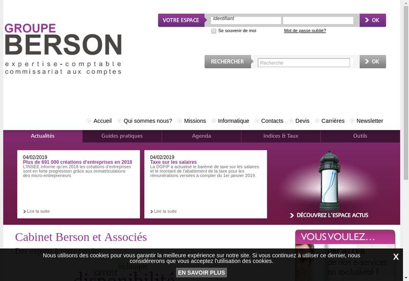 Capture d'écran du site de Cabinet Berson et Associes - Family Business