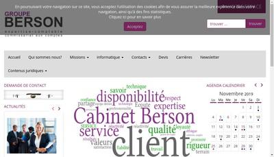 Site internet de Cabinet Berson et Associes