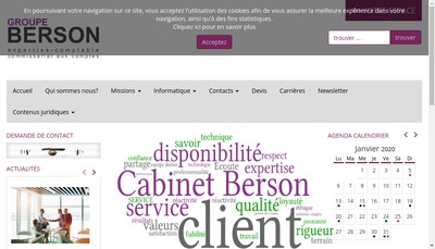 Site internet de Cabinet Berson et Associes - Family Business
