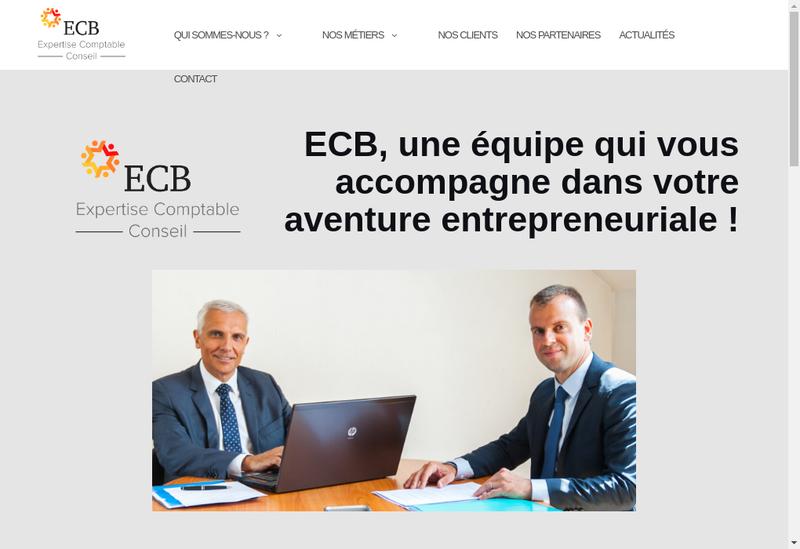 Capture d'écran du site de Cabinet Expertise Comptable Berti