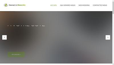 Site internet de Gamet et Associes
