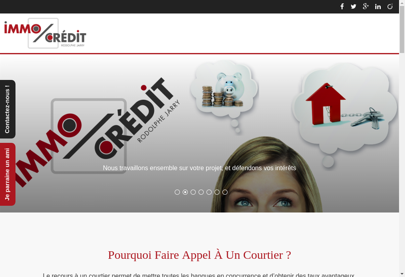 Capture d'écran du site de Immocredit