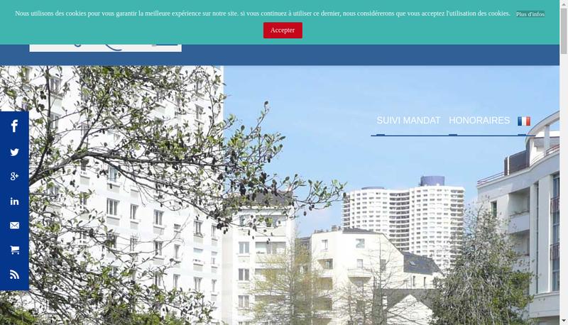 Capture d'écran du site de Negocimmo