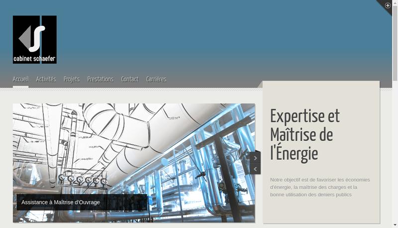 Capture d'écran du site de Cabinet Schaefer
