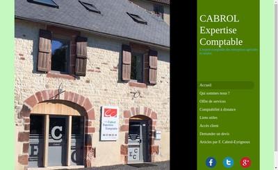 Site internet de Cabrol Expertise Comptable