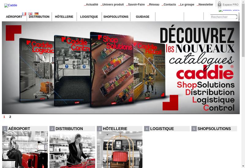 Site internet de Les Ateliers Reunis - Caddie