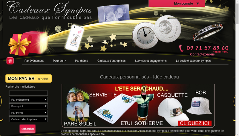 Capture d'écran du site de Idealsoft