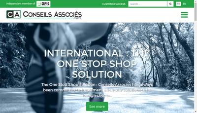 Site internet de Conseils Associes SA