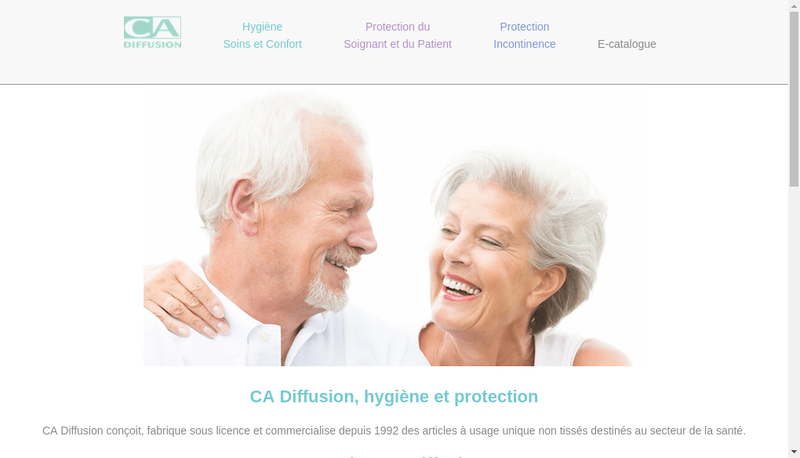 Capture d'écran du site de Ca Diffusion