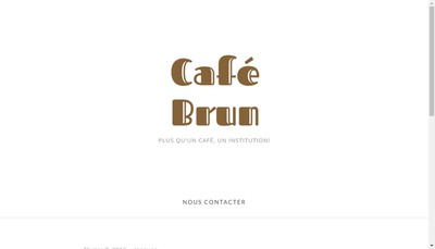 Site internet de Cafe Brun