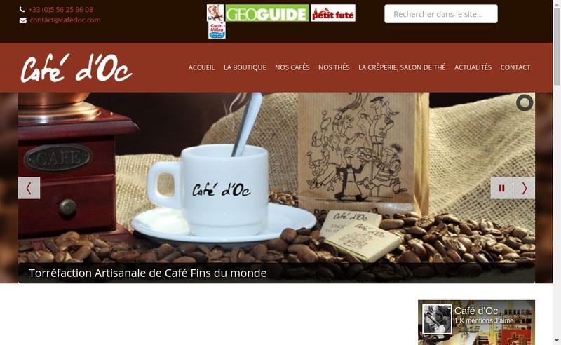 Site internet de Cafe d'Oc