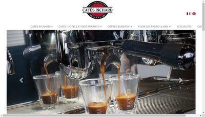 Site internet de Cafes Richard