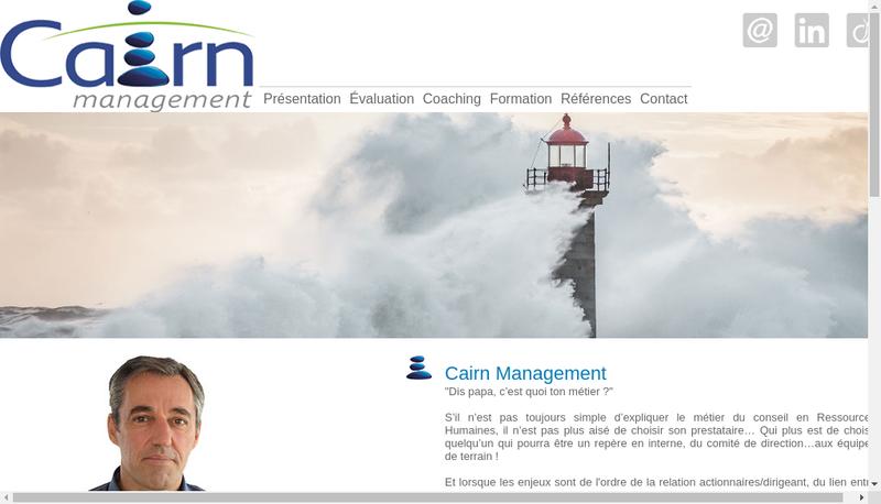 Capture d'écran du site de Cairn Management