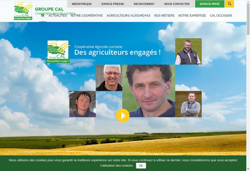Capture d'écran du site de Lorraine Agricole Distribution