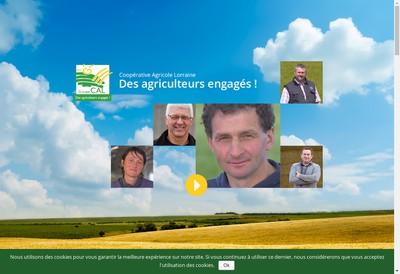 Site internet de Lorraine Agricole Distribution