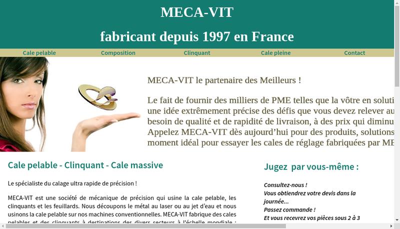 Capture d'écran du site de Meca Vit
