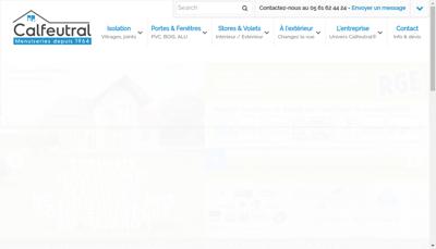 Capture d'écran du site de Etablissements Calfeutral