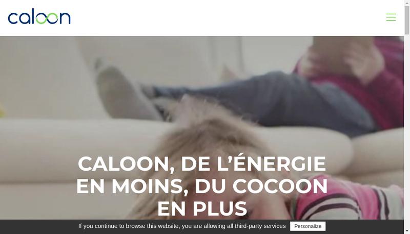 Capture d'écran du site de Caloon