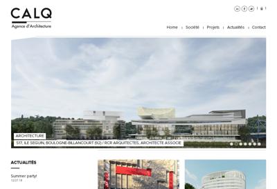 Capture d'écran du site de Calq Architecture