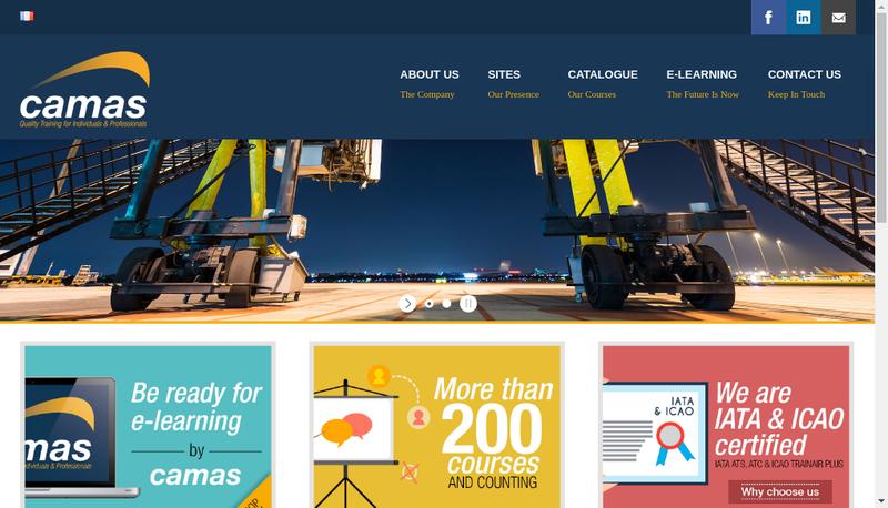 Capture d'écran du site de Aero Training Center