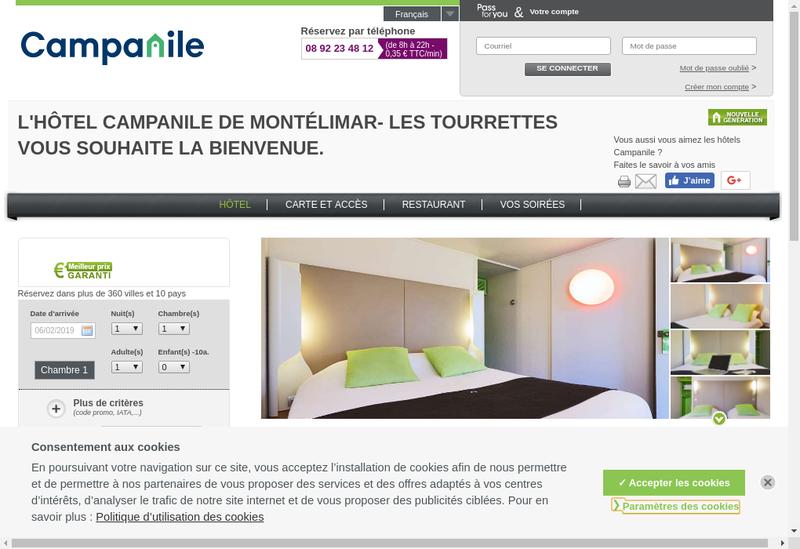 Capture d'écran du site de Campanile